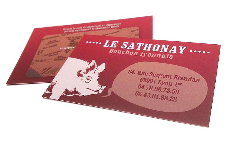 cartes de visite de restaurant